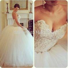 2015 princesse nuptiale bal robes robes de mariée pas cher Sexy Corset chérie Tulle Vintage robes de mariée Vetsidos de Novia(China (Mainland))