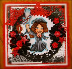 Handmade Cards (Scrapbooking) - Kenny K Image - Graduation Girl
