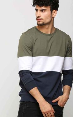 Color Block Men's T Shirt Source by tekkaxe wear for men Mens Stylish T Shirts, Casual T Shirts, Cool T Shirts, Men Casual, T Shirts For Men, Mens Tee Shirts, Mens Sleeve, Long Sleeve Tee Shirts, Mens Clothing Styles
