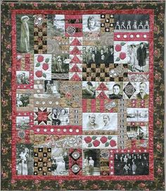 Family picture quilt ~ I want one of these!