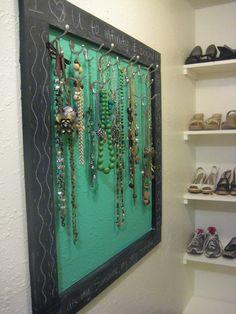 Frugal Decor Mom: Closet Reveal Part 1: Jewelry Organization