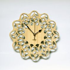 Bamboo Unique Wall Clock by HOMELOO on Etsy, $39.99