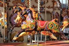 A traditional and beautiful, freshly painted carousel spotted at Cheshire Oaks by Kev Bailey, via Flickr