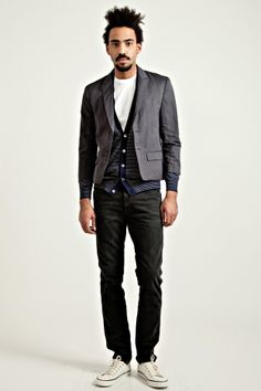 i am diggin' this outfit. ++ double layer jacket charcoal ++ undercover