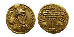 Ancient Coins - SASANIAN KINGS. Yazdgard I. AD. 399-420. Gold Heavy Dinar. Very…