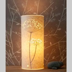cow parsley table lamp - small by hannah nunn - This truly beautiful small table lamp has been handmade by Hannah Nunn who cuts intricate designs into parchment. Each design is cut by hand, but Hannah also uses laser cutting technology to create ve
