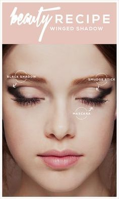 Achieve the cat eye look in a softer way with shadow. #eyemakeup
