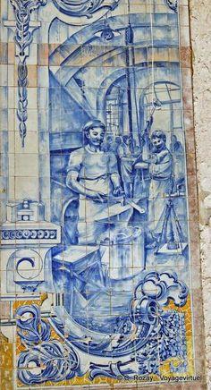 Artisan azulejos Alfama Lisboa Portugal