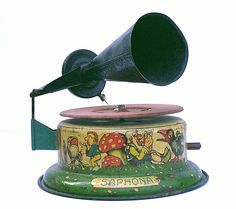 German-made Saphona toy gramophone