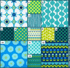 Custom Baby Bedding Crib Set (Blue Teal Lime Green White) (Modern Bright Flower Dot Tulip Medallion)(Bumpers Toddler Quilt Sheet Pillowcase) by JessieOchsGifts on Etsy