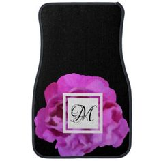 Floral Rose Black Pink Purple Car Mat Set - purple floral style gifts flower flowers diy customize unique