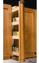 Wall Filler/Spice Pantry available through Trademark Kitchen and Bath
