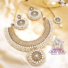 Online Shopping for Beautiful Pearl Antique Set | Necklaces | Unique Indian Products by Sanvi Jewels Pvt. Ltd. - MSANV68125676690