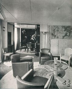 Stateroom, S.S Normandie by glen.h, via Flickr