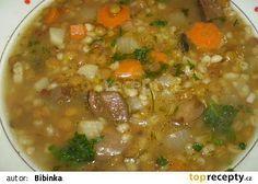Čočkovo-kroupová polévka s houbami Lentils, Cheeseburger Chowder, I Foods, Mashed Potatoes, Food And Drink, Cooking Recipes, Pizza, Treats, Baking