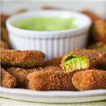 If you're craving something hot and crunchy on the outside and soft on the inside like french fries, try these avocado fries. Filled with healthy fats and plenty of flavor, they satisfy that fried food craving but don't have any of the bad-for-you stuff that fills those frozen jalepeno poppers you might be eying.f