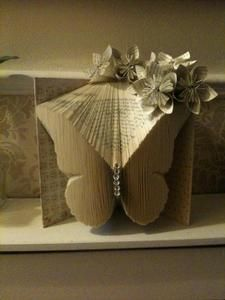 Book Folding Pattern For A Beautiful Butterfly