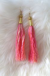 The Hanna earrings from Monica Meadow online www.monicameadow.com #tassels
