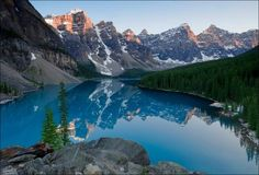 Moraine Lake, Banff National Park  Alberta, Canada (199 km west of Calgary)