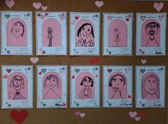 Mothers Day Crafts, Happy Mothers Day, Grandparents Day, Mother And Father, Fathers Day, Art For Kids, Diy And Crafts, Kindergarten, Stitch