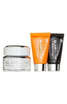 GLAMGLOW 'Glamazing SUPERMUD' Set is a collection of treatment masks that give your skin a summer glow.
