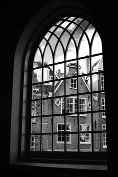 View through a Window, Begijnhof, Amsterdam, The Netherlands
