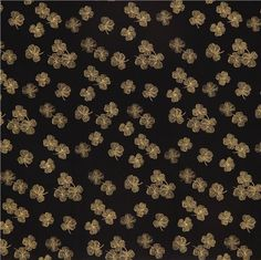 black cloverleaf fabric by Timeless Treasures with gold 2