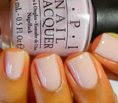 OPI Care to Dance? The perfect nude. It's either this or a french for weddings.