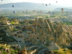 Cappadocian region is the place where nature and history come together most beautifully within the world. While geographic events are forming Peribacalari (fairy chimneys), during the historical period, humans had carried the signs of thousand years old civilizations with carving houses and churches within these earth pillars and decorating them with frisks.