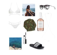 """""""Summer style"""" by tillerbabeasap ❤ liked on Polyvore featuring Ray-Ban, MOEVA, Miss Selfridge, adidas, HARRISON, Herbivore and MAC Cosmetics"""