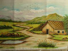 Paisagem com Casa | Explore Rose Nascimento - Pintura em Tec… | Flickr - Photo Sharing! Watercolor Artists, Watercolor Landscape, Landscape Paintings, Landscape Pencil Drawings, Art Drawings, Cenas Do Interior, Pintura Country, Pictures To Draw, Clay Art