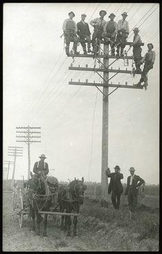 Independent Telephone Company. Near Missoula, Montana.  Between 1910-15.