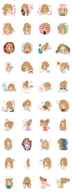 Express your emotions with Girls 3!This variety of stickers will sweeten up your chats for all occasions, perfect for love and friendship!