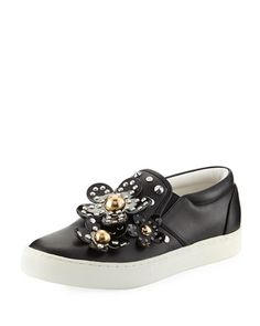 Daisy Studded Leather Slip-On Sneakers Marc Jacobs Daisy, Leather Slip Ons,  Studded a70c82f1eea4