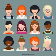 [Inspirations du Studio] - #Avatars femmes
