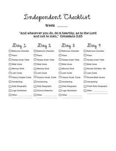 Independent Checklist