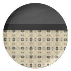 Beautiful Retro Black Pattern Plate