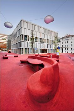 Stadtlounge (City Lounge) is an outdoor space in the centre of St. Gallen, Switzerland, designed by Carlos Martinez in collaboration with Pipilotti Rist. Click image for more photos and visit the slowottawa.ca boards >> http://www.pinterest.com/slowottawa