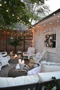 38 New BOHO Decor Make Your Home Fresh home design, , interior design, BOHO decor Small Backyard Patio, Backyard Patio Designs, Patio Ideas, Landscaping Ideas, Backyard Landscaping, Outdoor Spaces, Outdoor Living, Outdoor Decor, Outdoor Seating
