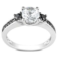 Created white sapphire ringSterling silverClick here for ring sizing guide