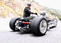 This is an insane motorcycle trike hot rod. Custom built with 1200 HP, custom built suspension, the works. check it out! Motorcycle trike, custom motorcycle,...