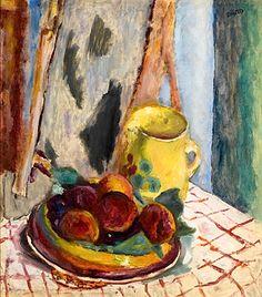 Pierre Bonnard Nature morte aux pêches et au pot jaune