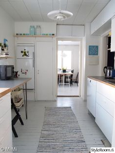keittiöremontti,keittiö,keittiönsisustus,rintamamiestalo,50-luku Organize, Interiors, Organization, Cabinet, Storage, Colors, House, Furniture, Home Decor