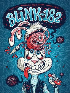blink-182 Cardiff poster by Michael Hacker