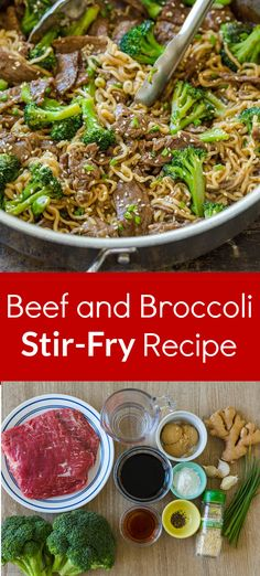 Beef and Broccoli Ramen Stir Fry is a meal in itself with saucy Ramen noodles, tender beef, and plenty of broccoli. This homemade stir fry is an easy 30-minute lunch or dinner. Ramen Stir Fry was a total home run for our family and I love that it reheats well the next day. This stir fry is our favorite way to elevate a humble packet of ramen noodles. You will fall in love with ramen noodle stir fry. #ramennoodles #ramenstirfry #stirfry #beefandbroccolistirfry #30minmeal #natashaskitchen… Beef Steak Recipes, Ground Beef Recipes, Meat Recipes, Cooking Recipes, Recipies, Ramen Recipes, Cooking Videos, Top Recipes, Copycat Recipes