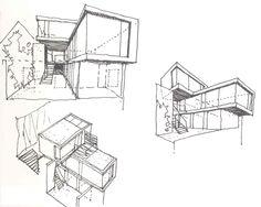 architectural sketch, artist unidentified