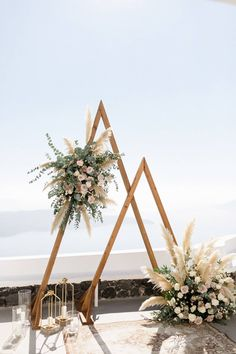 """What """"acute"""" take on the traditional ceremony arch 😍 📷: Styling Boho Wedding, Floral Wedding, Rustic Wedding, Wedding Flowers, Dream Wedding, Wedding Day, Luxury Wedding, Bouquet Wedding, Wedding Nails"""