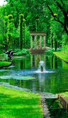 Verdant pond at Ramme Gaard organic farm and country estate near Hvitsten in Akershus, Norway • photo: Lins Blog