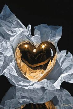 Trademark Fine Art 'Heart Of Gold' Canvas Art by Francois Chartier, Size: 24 x Multicolor Golden Heart, Heart Of Gold, Gold Canvas, Canvas Art, A Course In Miracles, I Love Heart, Heart Art, In A Heartbeat, Heart Shapes