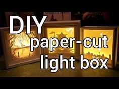 Comment faire un papier découpé Light Box: Bricolage - YouTube